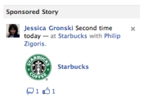 Starbucks Sponsored Story Example